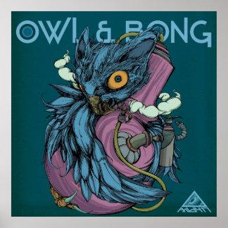 Owl & Bong (Blue) POSTER