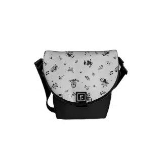 Owl Branches Bird Animal Pattern Destiny Destiny's Messenger Bag
