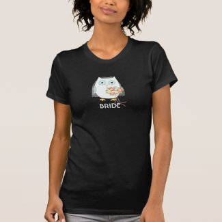 Owl Bride - Fun Design with Custom Text T-Shirt