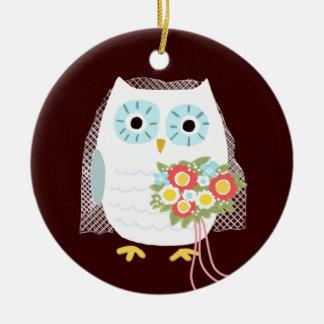 Owl Bride - Fun Wedding Gift Ceramic Ornament