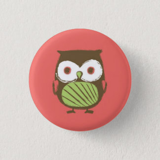 "Owl Button - 1.25"" (red)"