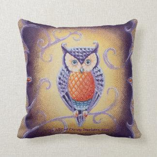 Owl by TACS plush throw pillow
