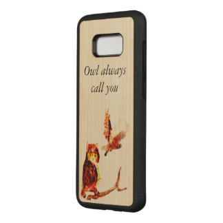 Owl Call You Tawny Owls Art Carved Samsung Galaxy S8+ Case