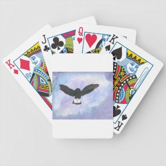 Owl Carrying Mail Bicycle Playing Cards