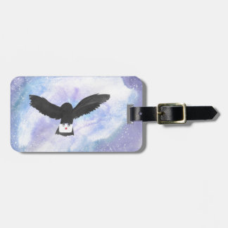 Owl Carrying Mail Luggage Tag