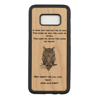 Owl Carved Samsung Galaxy S8 Case