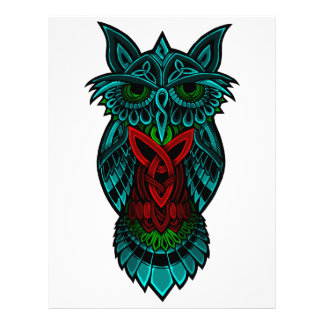 Owl Celtic Art Letterhead