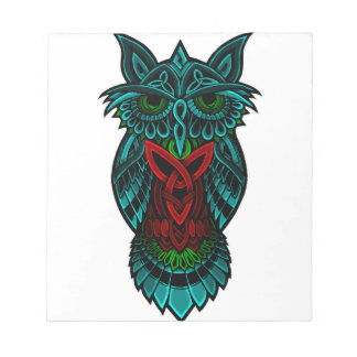 Owl Celtic Art Notepad