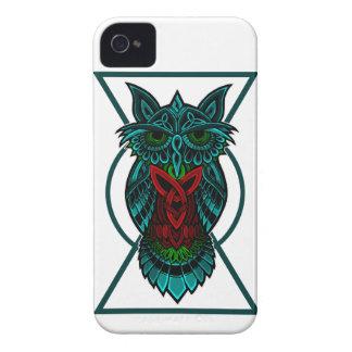 Owl Celtic Geometric iPhone 4 Case