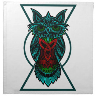 Owl Celtic Geometric Napkin