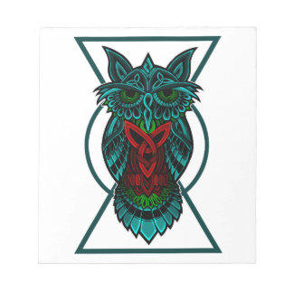 Owl Celtic Geometric Notepad