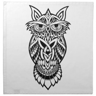Owl Celtic Knot Napkin