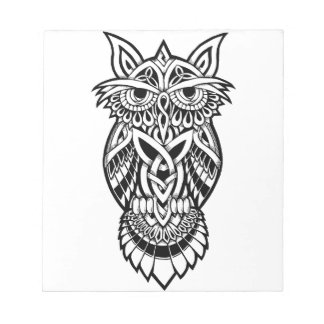 Owl Celtic Knot Notepad