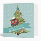 owl chef cookie Christmas tree personal cookbook Binder