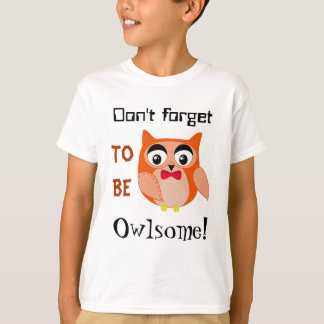 Owl clip art with cute red bow T-Shirt