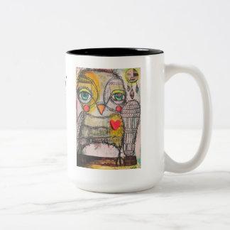 Owl Coffee Mug!  Be Wise and Follow your Dreams Two-Tone Coffee Mug