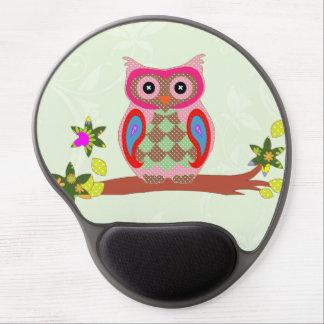 Owl colorful patchwork art decorative gel mousepad
