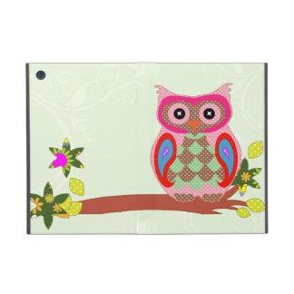 Owl colorful patchwork art decorative ipad case