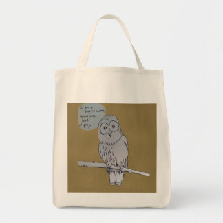 Owl Comic Tote Bag