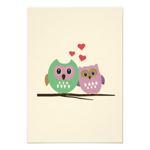 Owl couple announcement