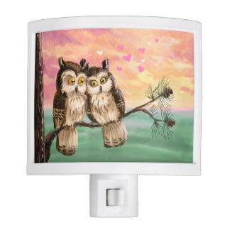 Owl couple love sunset nite lites