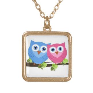 Owl Couple Necklace