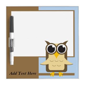 Owl Custom Text Dry Erase Board