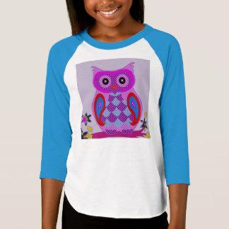 Owl Cute Rainbow Feathers Animal Bird Destiny T-Shirt