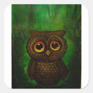 Owl cutie square sticker