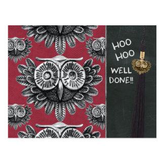 Owl exam congrats CC0834 Hoo hoo Well done Postcard