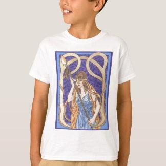 Owl Eyed Athena Messenger T-Shirt