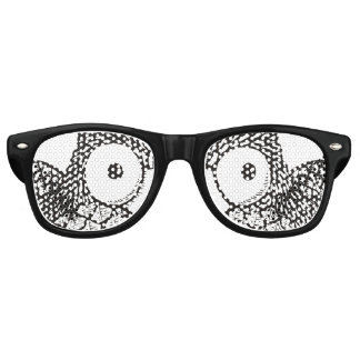 Owl Eyes Cartoon Retro Sunglasses