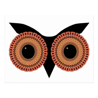 Owl Eyes custom postcard