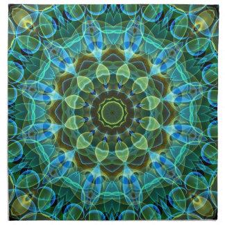 Owl Eyes kaleidoscope Napkin