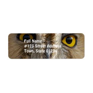 Owl Eyes Return Address Labels