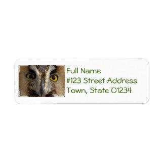 Owl Eyes Custom Return Address Label