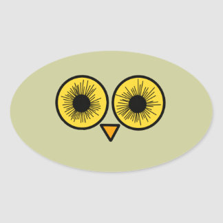 Owl Eyes Oval Sticker
