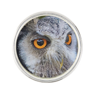 OWL face Lapel Pin