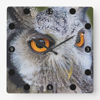 OWLface Square Wall Clock