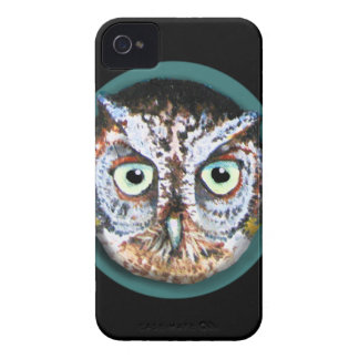 OWL FACE WITH BIG EYES iPhone 4 Case-Mate CASE
