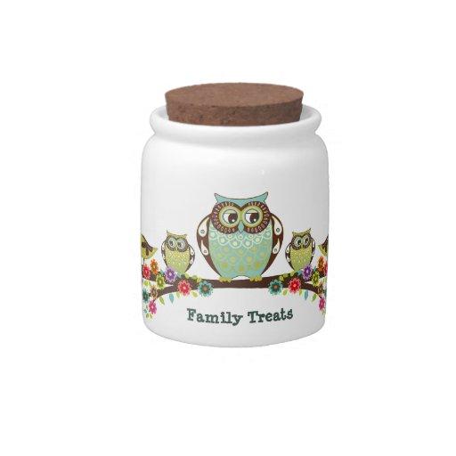 Owl Family Candy Jar