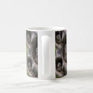 Owl Family in tree Coffee Mug