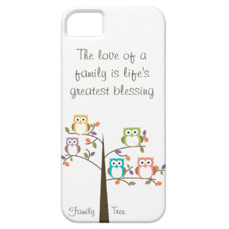 Owl Family Tree and Quote iPhone 5 Cover