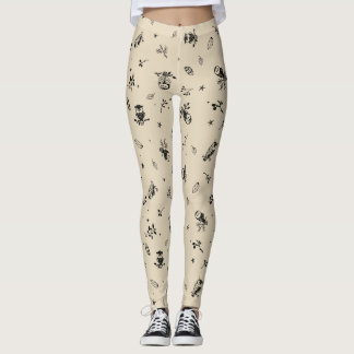 Owl, Feather & Arrow Print leggings