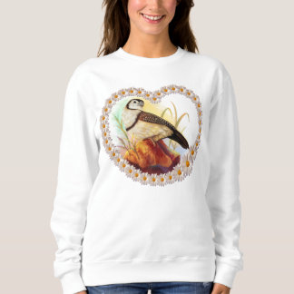 Owl finches realistic painting sweatshirt