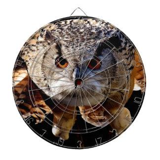 Owl Flying At Night Dartboard