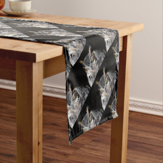 owl fractal design short table runner