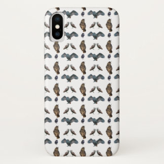Owl Frenzy iPhone X Case (choose colour)