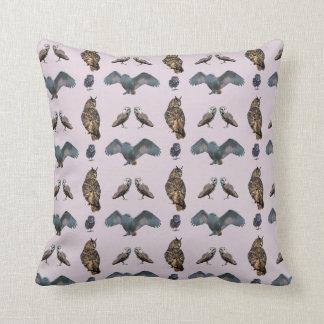 Owl Frenzy Pillow (Dusty Pink)