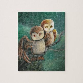 Owl Friends Owl Art Jigsaw Puzzle